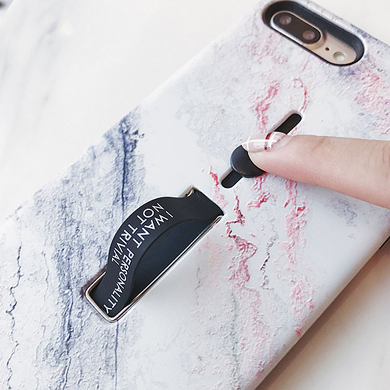 Marble Soft Silicon Case For iPhone 8Plus 7Plus Hide Ring Stand Holder Phone Cases For iPhone X 8 7 6 6s Plus TPU Back Cover
