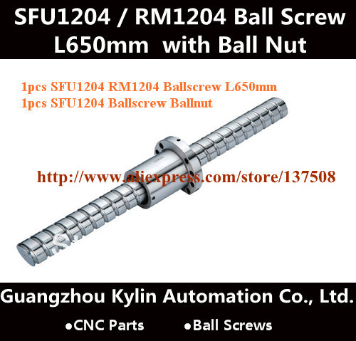 On Sale! 1 Anti Backlash RM / SFU1204 BallScrew-L650mm with end-machined and SFU1204 Screw Ball Nuts DIY CNC Parts 3 anti backlash ballscrew ball screw rm1605 300 650 1400mm c7 cnc end machined
