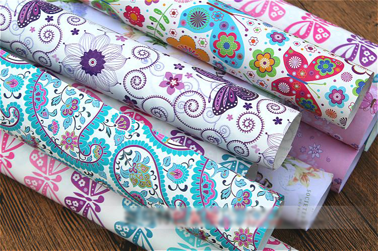 beautiful butterfly and flower design big size background paper DIY wedding birthday party guest gift wrapping paper 20sheets