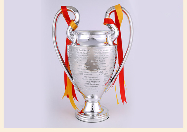 11.5KG 77 cm full size Champions League Little Trophy  Soccer Fans for Collections Metal Silver Color Words with Madrid 2016 full size 1 1 real life size 77cm english fa premiership trophy premier league trophy replica cup barclay trophiesandawards