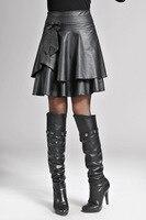 New Leather Skirt A Word Skirt Thin Skirt Skirt All Match Umbrella Skirt Female Body Occupation