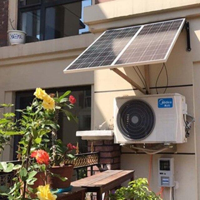 TUV Placa Solar 12v 100w 2 Pcs Solar Batteries For Home Photovoltaic Panel 200W Solar Home System Solar Car Charger Motorhomes