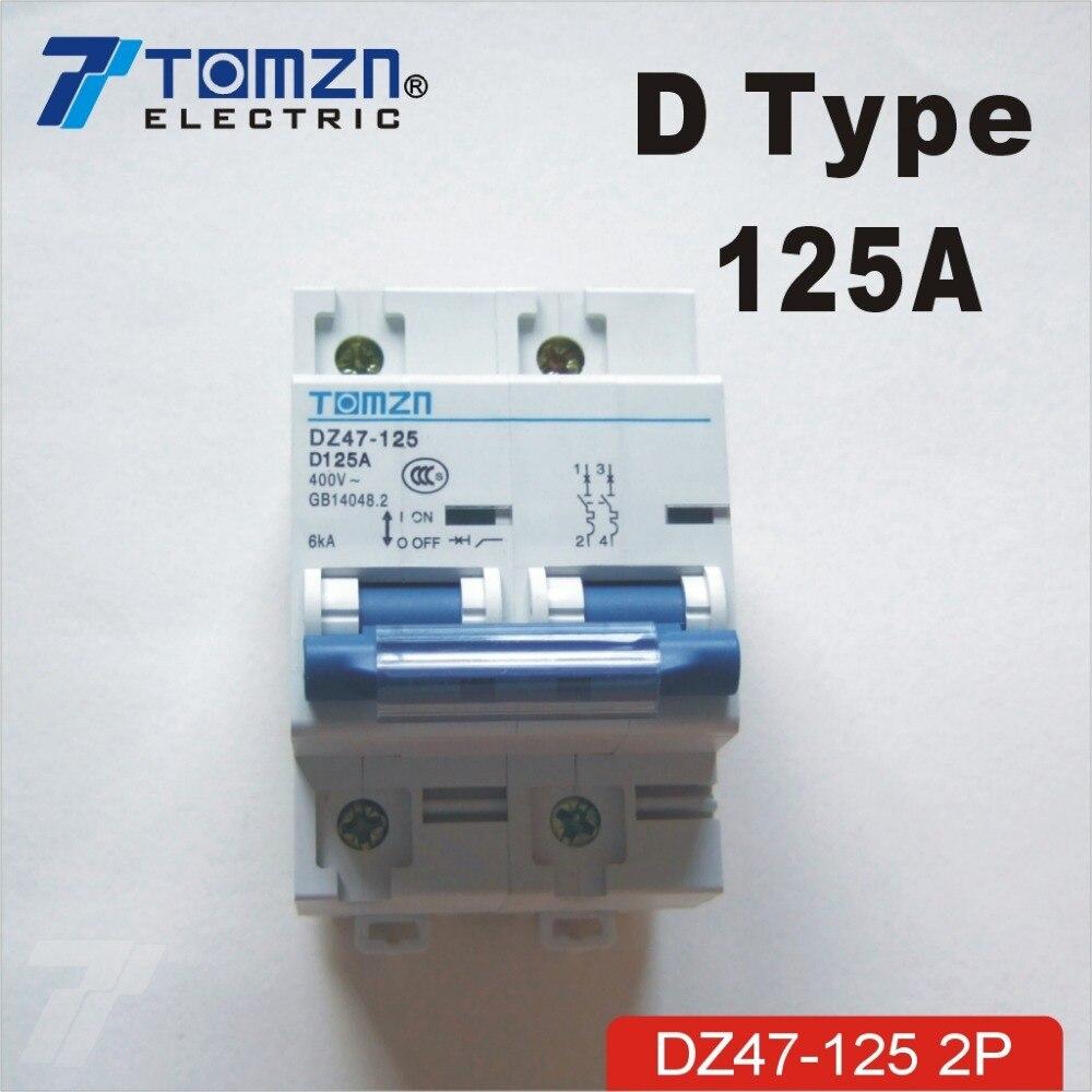 Leistungsschalter 2 P 125a 240 V/415 V 50 Hz/60 Hz Schutzschalter Mcb Sp
