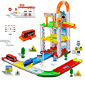 48 unids tres vagones de ferrocarril pista escaleras kids toy simulación estacionamiento montado toys marca de alta calidad