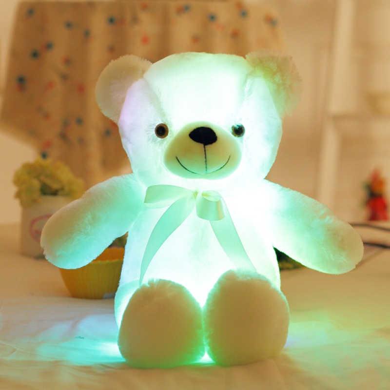 50 см романтический разноцветный мигающий светодиодный люминисцентный ночник Мягкие плюшевые игрушки плюшевые мишки куклы милые подарки для детей и друзей