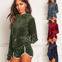 ZOGAA 2019 Summer New Casual Solid Color Sports Suit Pajamas Set Spring and Women Leisure 4 Colors SETS S-2XL