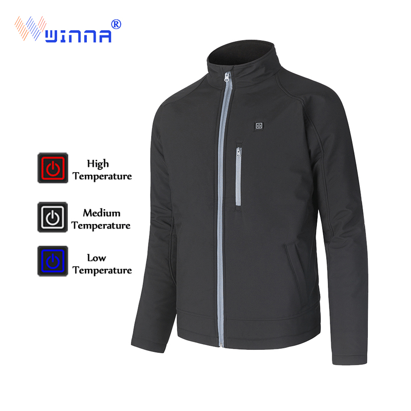 USB Charging Electric Heated Jacket Winter Keeping Warm Heating Jacket Windproof Thermal Sport Coat for Skiing