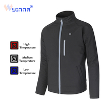 power heated Jacket Men 2-Layer Winter Windproof Waterproof Thermal Skiing mountain camping size M-XXL FREE SHIPPING