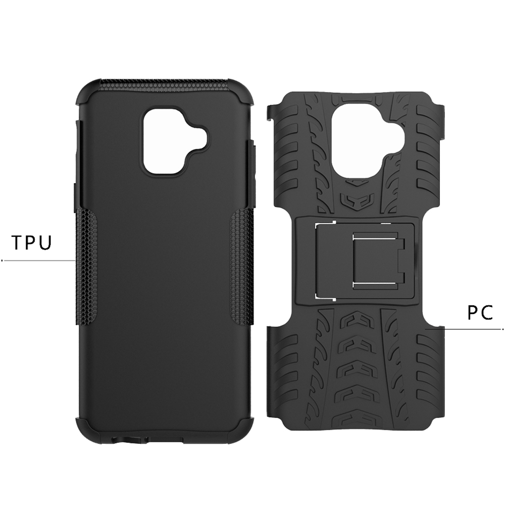official photos 255ae 545de US $4.25  For Samsung A6 A6 Plus A6s A7 A8 A8 Plus A9 J8 2018 Case Silicone  PC 2 in 1 Shockproof Protective Case Back Cover With Stand-in Fitted Cases  ...