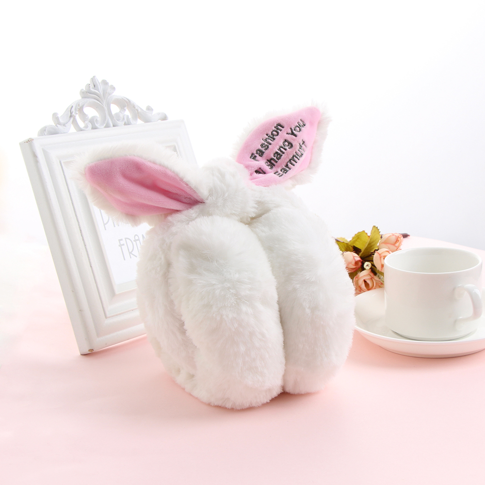1PC Fashion Cute Women Girls Earmuffs Rabbit Fur Oreilles Bowknot Ear Warmers Comfort Ear Muffs Hairband Winter Warm