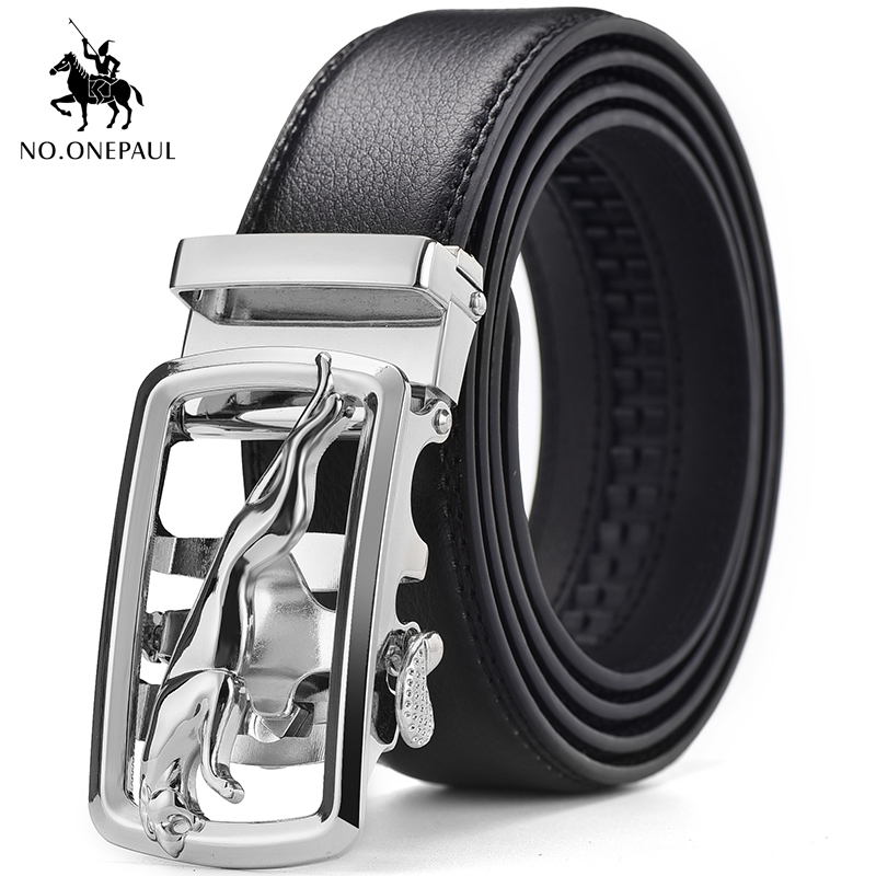 NO.ONEPAUL The Latest Style Men's Genuine Leather Belt High Quality Leather Belt Men's Business Style Automatic Buckle Fashion