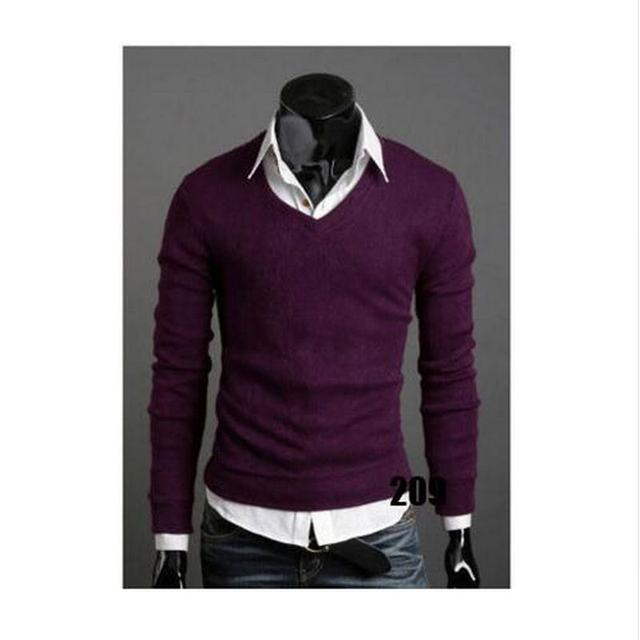 Christmas Jumper Casual Knitted V Neck Pullover Sweaters  4