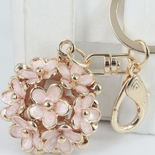 FREE SHIPPING  Fashion Hollow Ball Car Keychain Bag Hanger Keyring for Women Female Novelty Gifts Wholesale and Retail цены онлайн