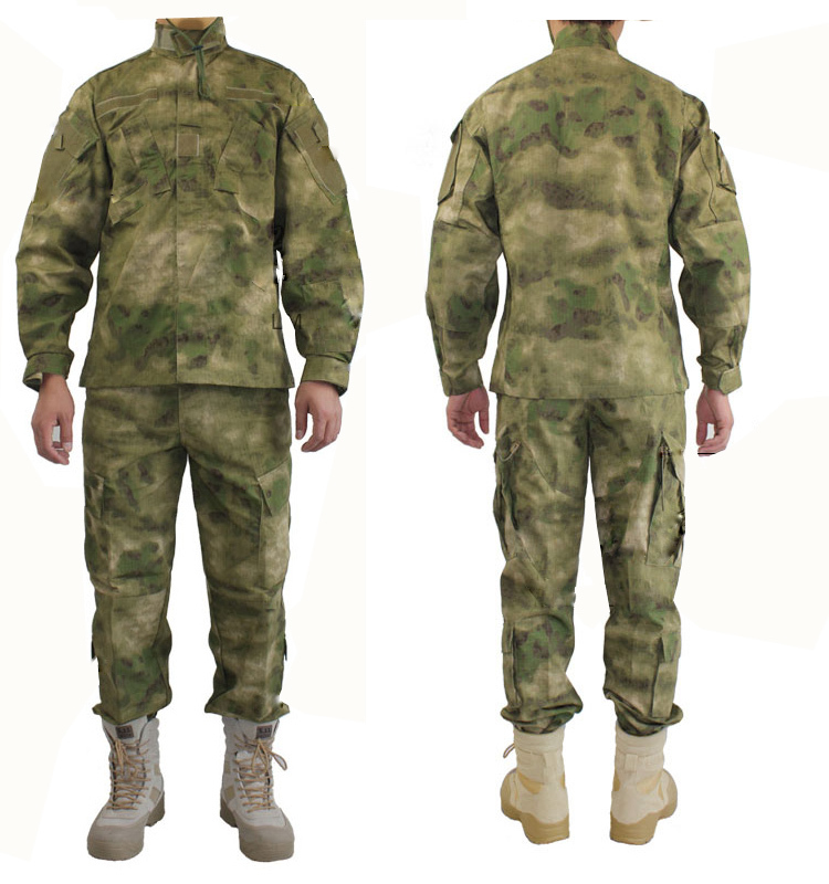 ФОТО New Arrival Ripstop A-TACS FG Tactical Camouflage Suit Airsoft Paintball Hunting Suit Tactical Clothing Ghillie Suit Cotton