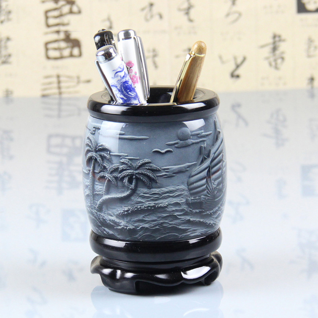 2015 NEW Pen Containers Home Office Desk Pen Holder Creative Decorations  Ornaments Teacheru0027s Day Gift Practical