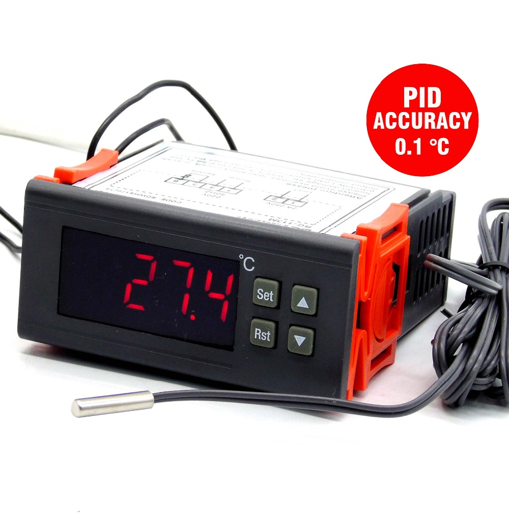 Accuracy 0.1 Degree PID Adjust Output Digital Incubator Thermostat For Temperature Controller Panel