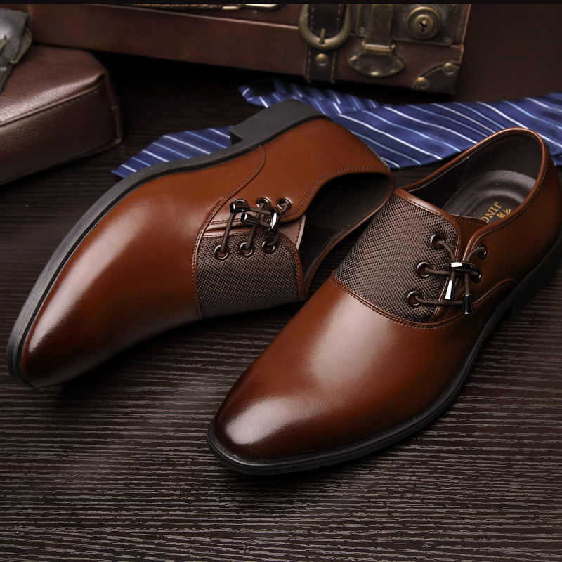 Luxury Brand Men's Business Dress Shoes Genuine Leather Oxford Shoes Black Brown Classic Gentleman Shoes Fashion Flats Sapato 2A 2017 fashion italian luxury dress mens shoes genuine leather black brown design flats for men business ol shoes brand oxford
