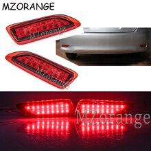 For 2011-2012 Toyota Corolla Lexus CT Parking Warning Brake Tail Lamp Red Lens Rear Bumper Reflector Light LED Red Bulb 2 PCS for toyota corolla altis led tail light 2011 2012 year smoke black color yzv2