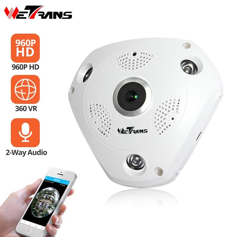 Wetrans Wifi IP Camera Security 960P HD Fisheye VR 360 Panoramic Wireless Camera CCTV Surveillance P2P