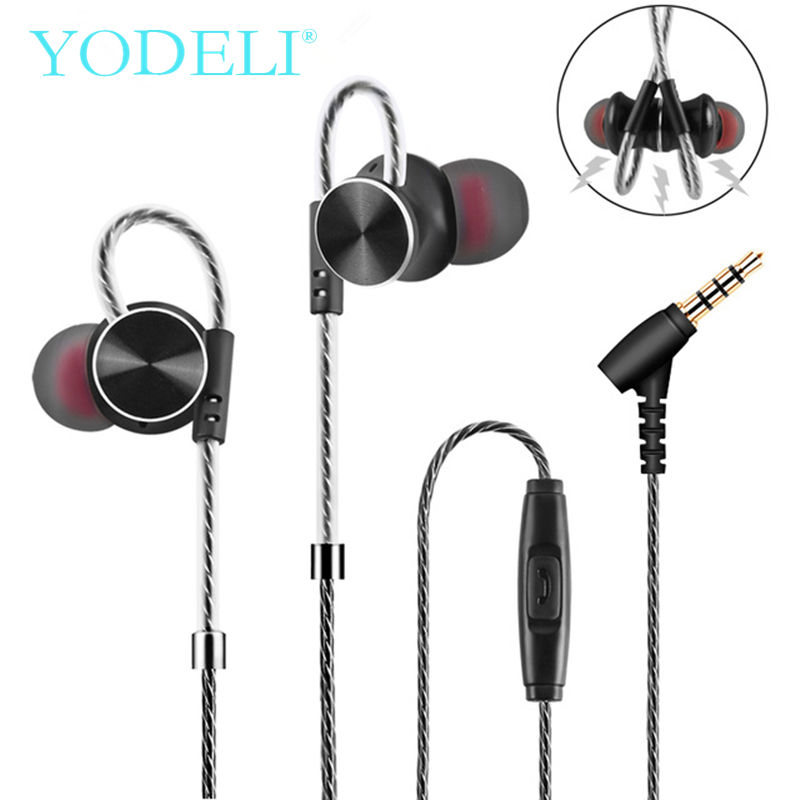 YODELI W3 In-Ear Earphone 3.5mm Jack Noise Reduction Headset HiFi Stereo Headphones With Mic MP3 Earbuds for iPhone 6 6S Phones noise cancelling earphone stereo earbuds reflective fiber cloth line headset music headphones for iphone mobile phone mp3 mp4 page 6
