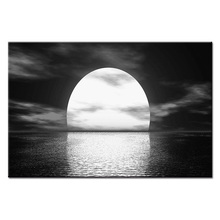 Fashion Framed Wall Decorations 1pcs / Set Modern Sunrise at sea Canvas Print Artist home Decoration