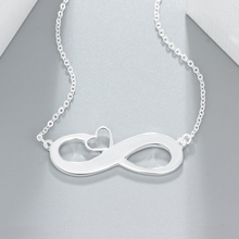 Infinity Love Heart Name Necklace