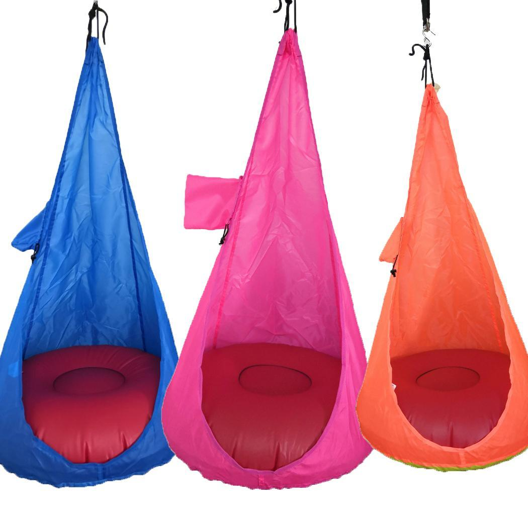 Home Child Hammock Chair Kids Swing Pod Chair(Without Cushion) Portable Outdoor Indoor Garden Travel Hanging Swing Seat Hot 2019 title=