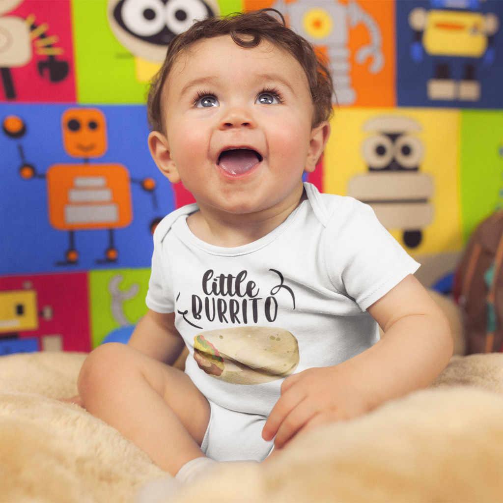 Muqgew для новорожденных детская одежда для девочек Одежда для маленьких для мальчиков и девочек с надписью Little Burrito комбинезон, гимнастический костюм, одежда, vetement bebe garcon ete # y2
