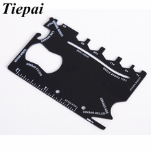 Tiepai Credit Card Tools Multifunctional Pocket Knife Wallet Multi Tool Multitool Camping Survival Tools Wrench Microtech Ninja