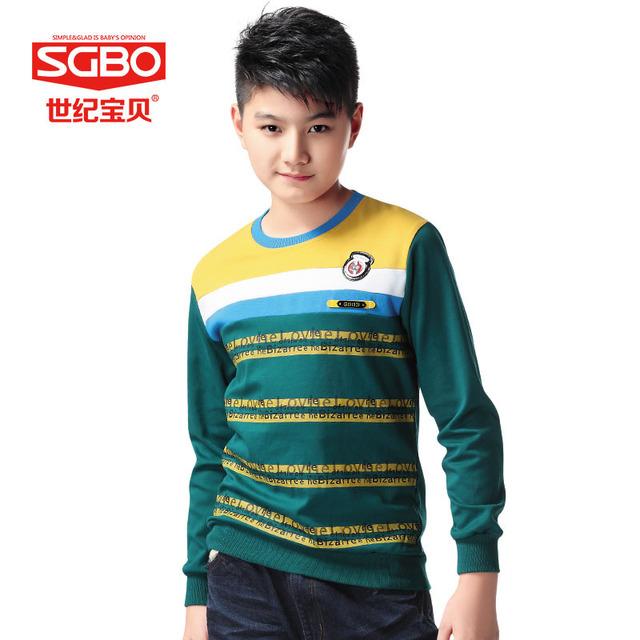 Muchachos marca Casual camisetas de chico jersey de rayas 13 14 15 16 años niños ropa de algodón adolescente sudadera de manga larga 8C3113