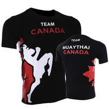 VSZAP Canada Team Muay Thai Sanda MMA Men T-Shirt Fitness Sporting Tee Shirt Homme UFC Fighting Wear Brand Clothing