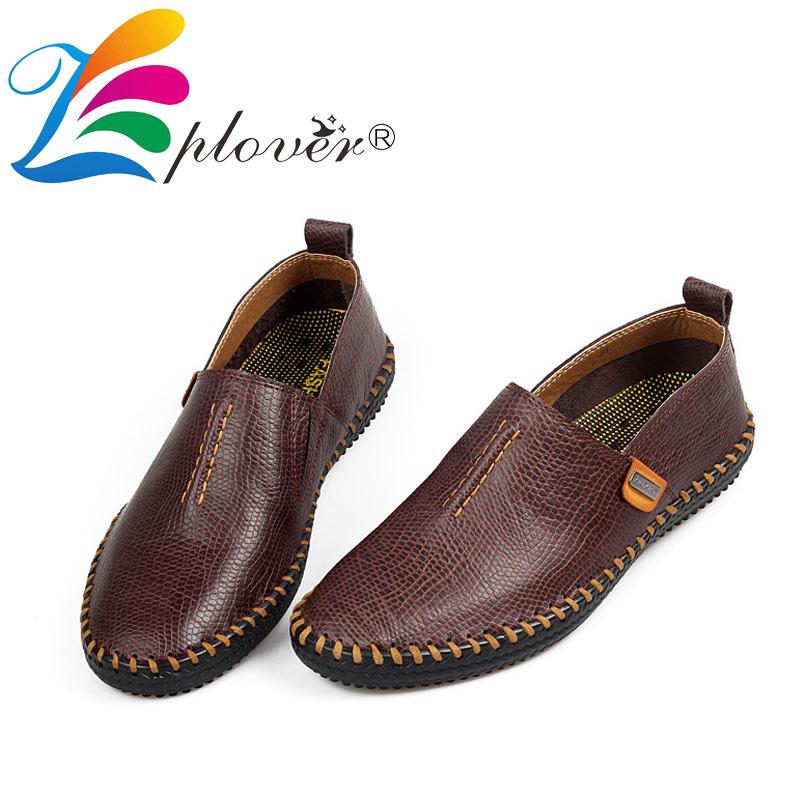 Moški Casual čevlji Moški Pravi usnjeni čevlji 2018 Novo Ročno - Moški čevlji