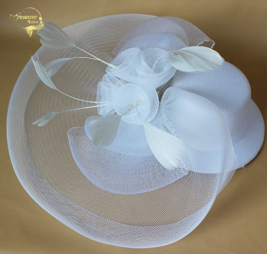 Wedding Hats For Women Vintage Net Bridal Hats Black White Wedding Accessorie Brides Fascinator Sinamay Wedding Birdcage Veil