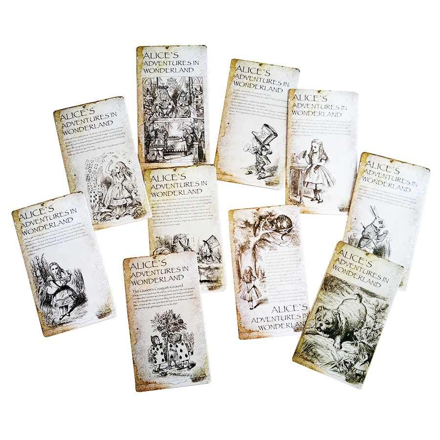 20 Pcs/lot  New Vintage Style Alice's Adventure In Wonderland Post Card Set Greeting Card Christmas Gift Personalized postcard