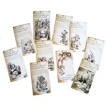 20 Pcs/lot New Vintage Style Alice's Adventure In Wonderland Post Card Set Greeting Card Christmas Gift Personalized postcard(China)