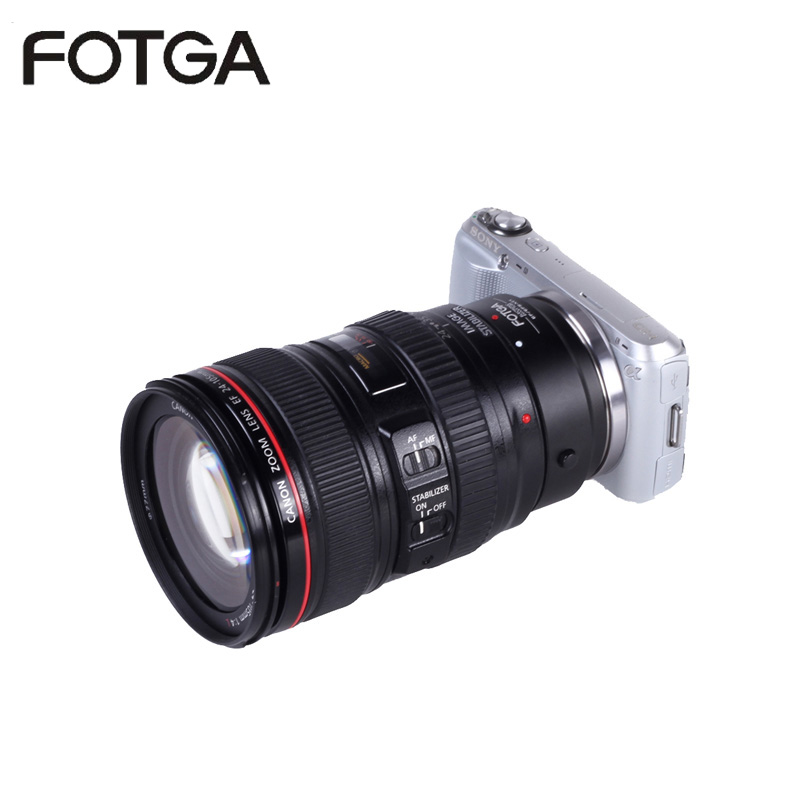 Fotga Electronic AF Auto Focus Lens Adapter For Canon EOS EF EF-S To Sony NEX E A7 A7R Full Frame wholesale price jmfoto electronic af auto focus lens adapter for canon eos ef ef s body to sony e nex a7 a7r lens full frame