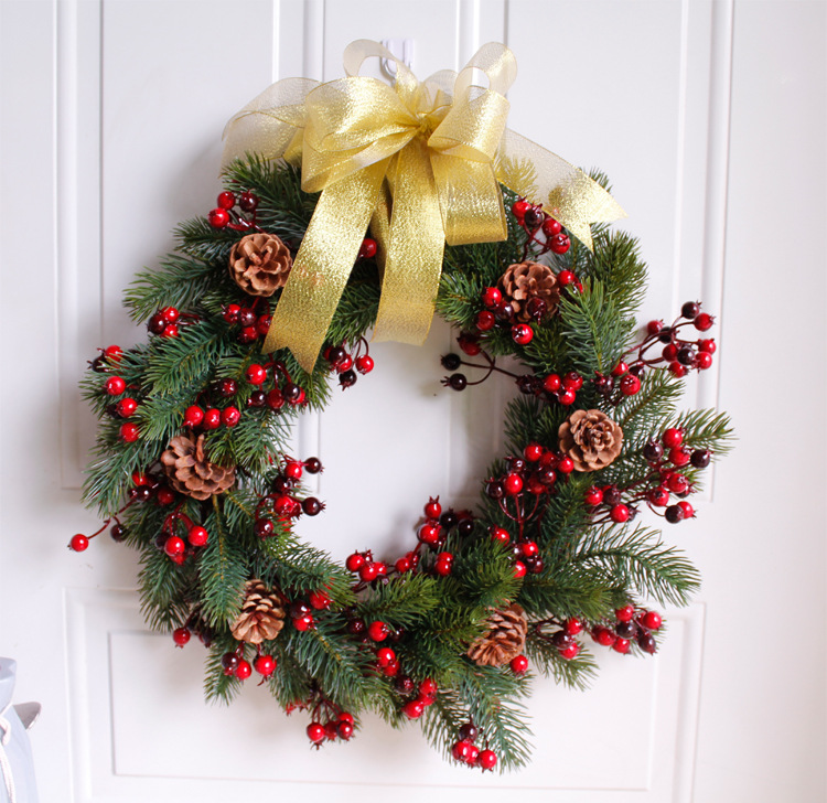 Christmas Pine Garland.Us 23 6 21 Off 45cm Simulation Christmas Pine Branch Garland Thanksgiving Wreath Home Decoration Welcome Front Door Wreath Housewarming Gifts In