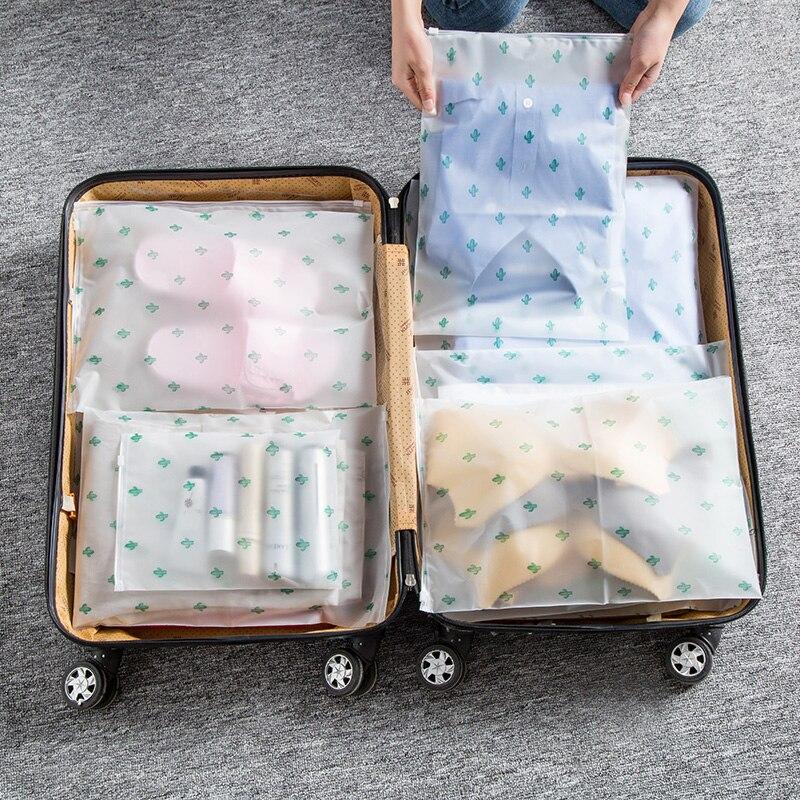 Plant Cactus Transparent Cosmetic Bag Travel Makeup Case Women Zipper Make Up Handbag Organizer Storage Pouch Toiletry Wash