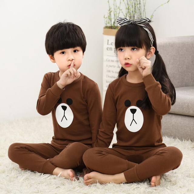 Kids Boys Sleepwear baby girl spring cotton sets Children Homewear Pajamas for Boy Pyjamas Kids Nightwear 2-13Y teenage clothes 2