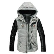 2015 мужская зимняя пуховик мужское пальто утолщение верхней хлопок-ватник лоскутная пиджаки Большой размер 2XL 3XL 4XL