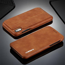 LC. IMEEKE Luxe Wallet Case Voor iphone 6 6s 7 8 Plus Magneet Lederen Flip Cover Voor iphone Xs Max XR X iphone 8 7 plus Card Slot