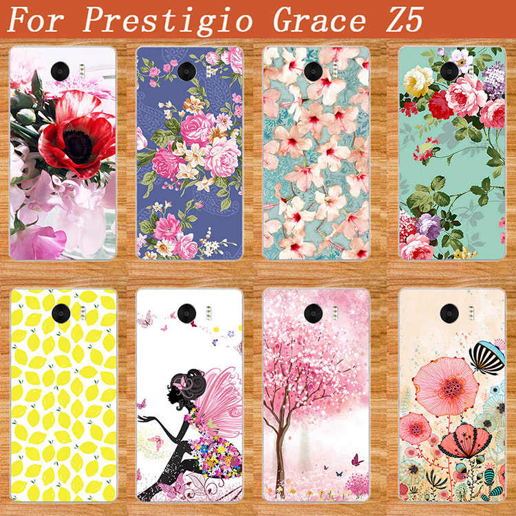 For Prestigio Grace Z5 Phone painted case fashion 10 styles TPU painting Back case For Prestigio Grace Z5 PSP5530DUO 5530 Duo
