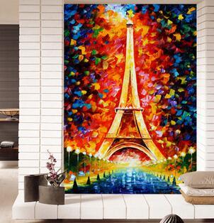 Handgeschilderde digitale olieverf Europese decoratieve schilderkunst