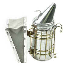 S Size Beak-Mouth Type Bee Hive Smoker with Heat Shield and Cowhide Leather Bellows Beekeeping Tool Equipment bee hive smoker stainless steel w leather heat shield beekeeping equipment