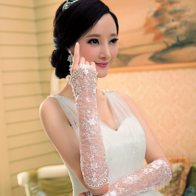 2016 Mulheres Luvas de Noiva Festa de Casamento Das Senhoras Simples Tule de Luxo Accessoires Frete Grátis