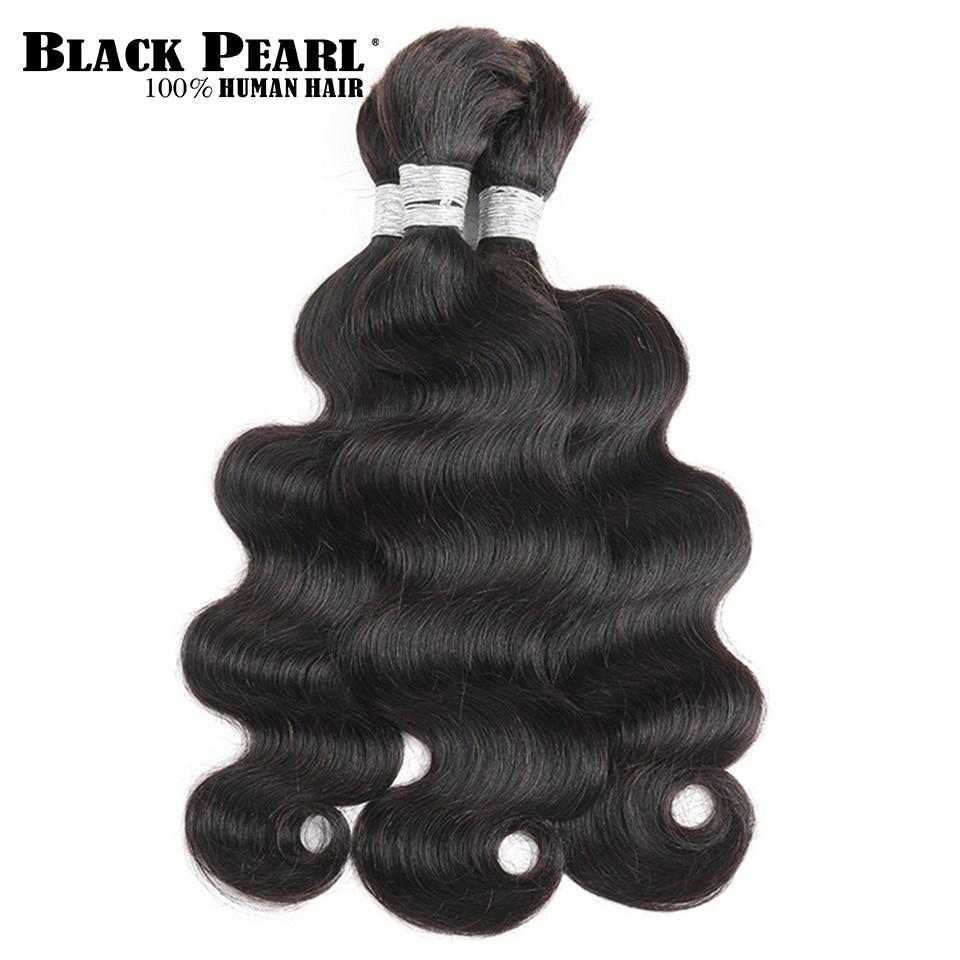 Hair Extensions & Wigs Black Pearl Pre-colored Deep Wave Brazilian Hair Bulk Braiding Hair Extensions 1 Bundle Remy Human Hair Bundles Braids Hair Deal Hair Weaves