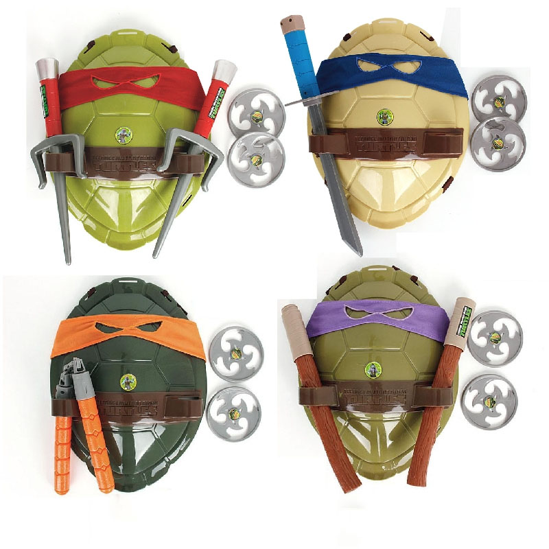 Turtles  Armor Toy Weapons Turtle Raphael Michelangelo Leonardo Figure Cosplay Mask Shell Weapon Props Party for boy kids(China)