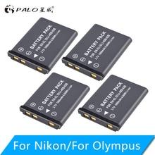PALO 4PCS 1800 mAh EN-EL10 EN EL10 LI-42B Li-40B LI42B 40B camera battery for nikon OLYMPUS U700 U710 FE230 FE340 FE290 FE3