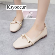 Brand Ksyoocur 2019 New Ladies Flat Shoes Casual Women Comfortable Pointed Toe Spring/autumn/summer 18-017