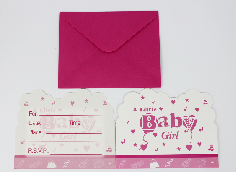 Free shipping 60pcslot a little baby girl theme children birthday free shipping 60pcslot a little baby girl theme children birthday party invitation card filmwisefo